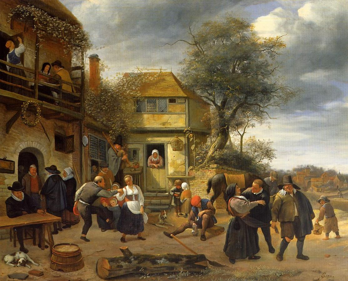 Peasants before an Inn by Jan Steen 1653