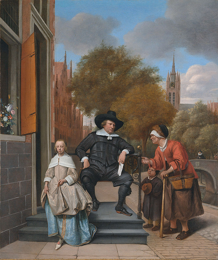 A Burgomaster of Delft and his daughter Adolf en Catharina Croeser aan de Oude Delft by Jan Steen 1655