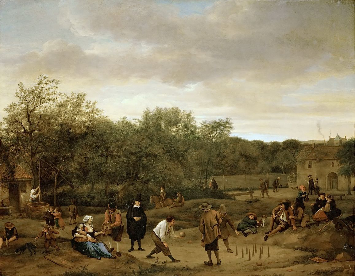 The Bowling Game by Jan Steen 1655