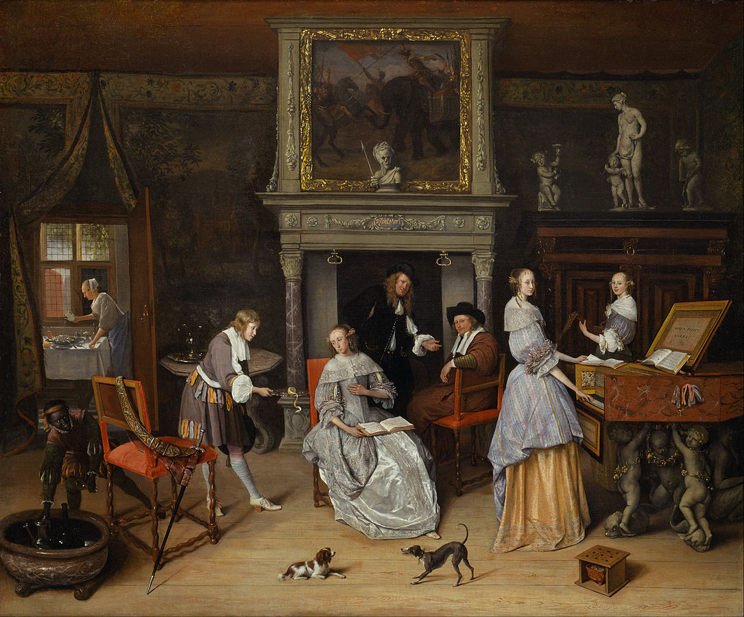Fantasy Interior with Jan Steen and the Family of Gerrit Schouten by Jan Steen 1659-60