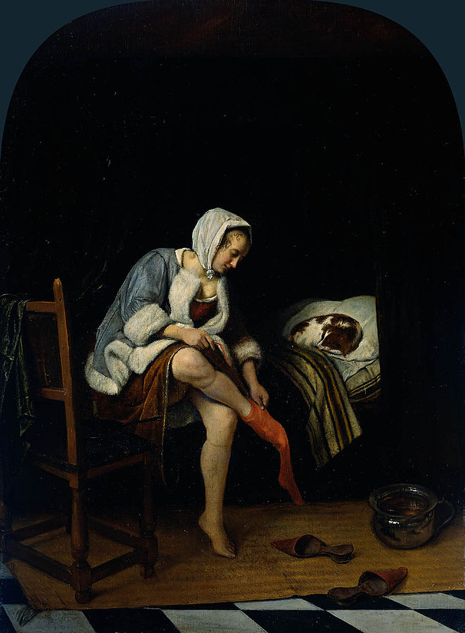 Woman at her Toilet La Toilette by Jan Steen 1659-60