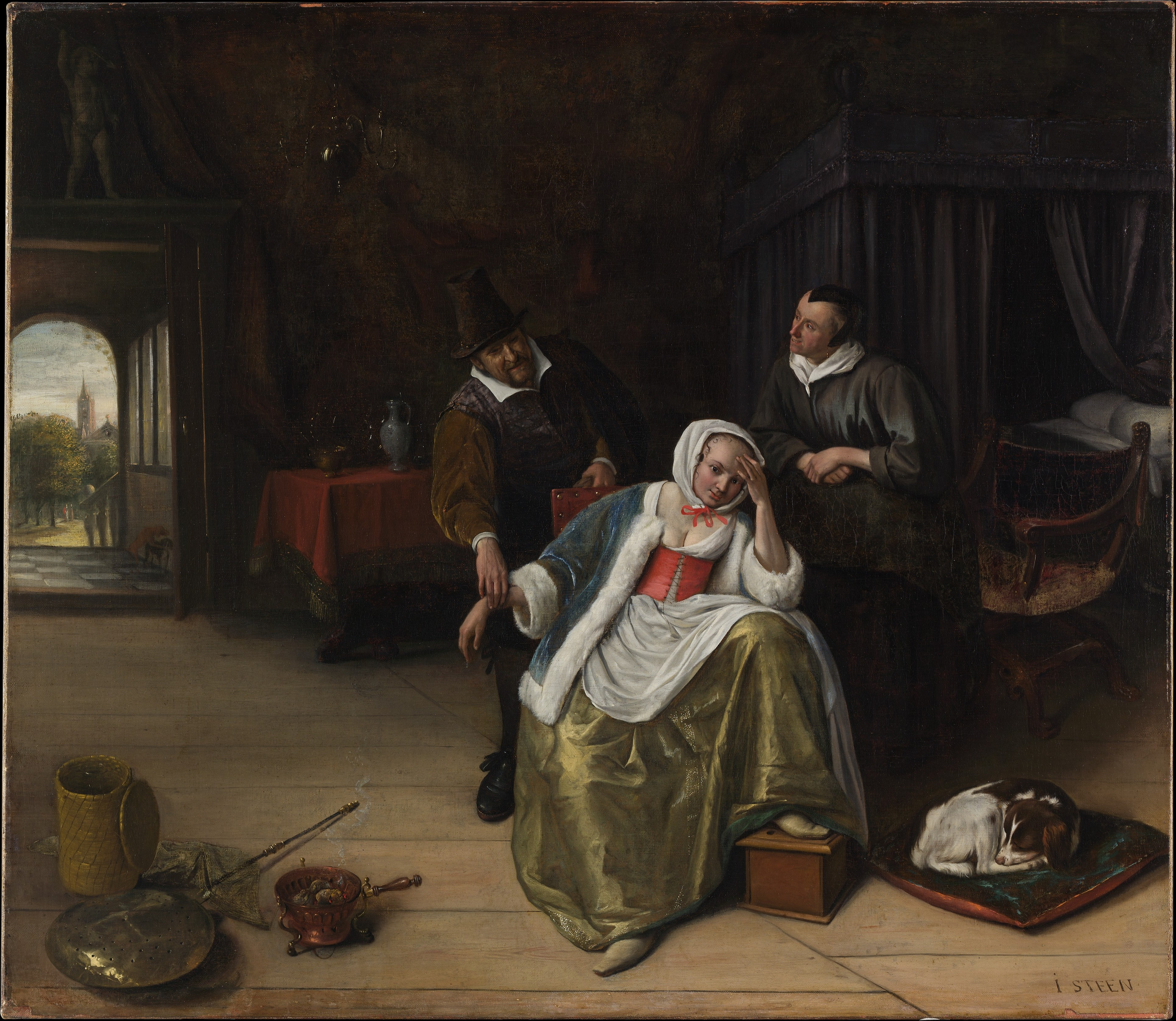 The Love Sick Maiden 1660 by Jan Steen