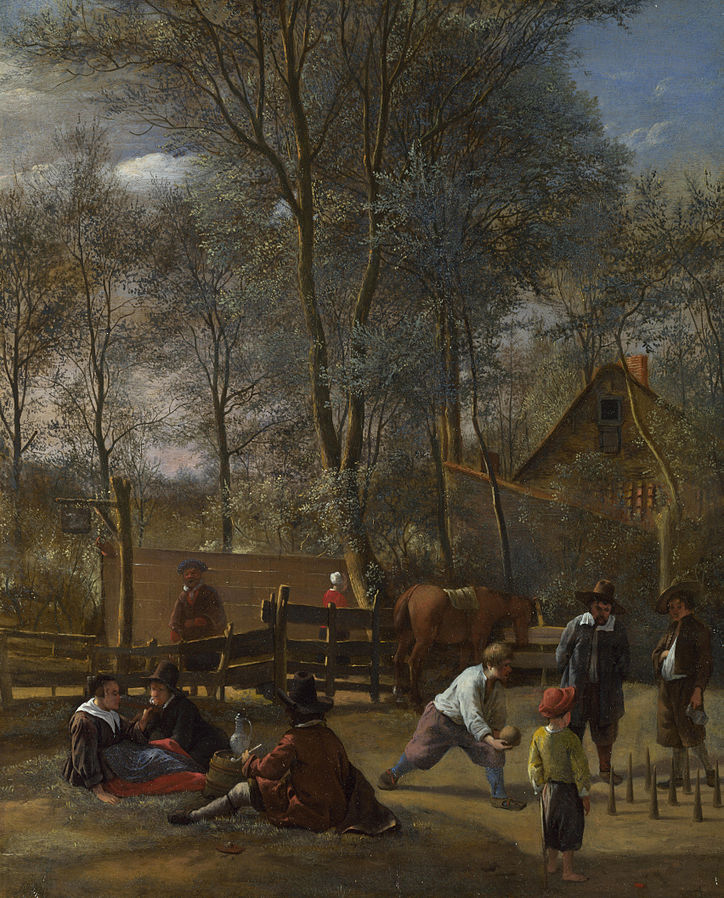 Skittles Players Outside an Inn by Jan Steen 1660-3