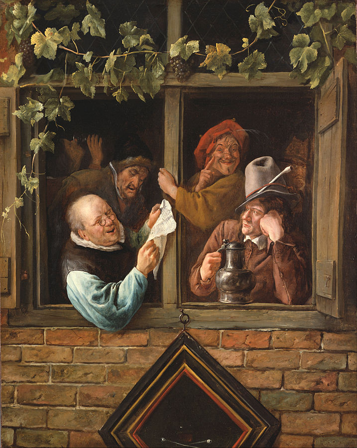 Rhetoricians at a Window by Jan Steen 1661-6