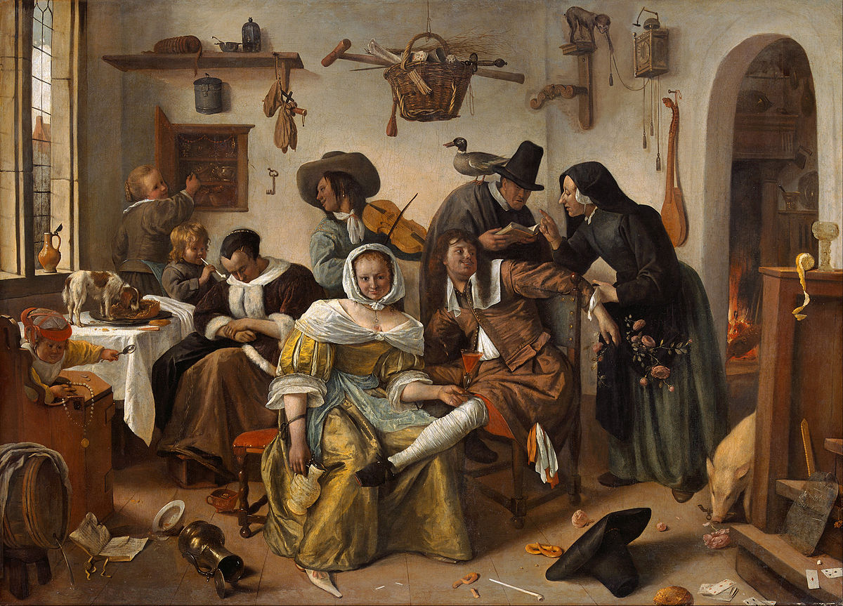 Beware of Luxury by Jan Steen 1663