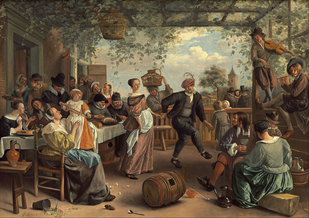 The Dancing Couple by Jan Steen 1663
