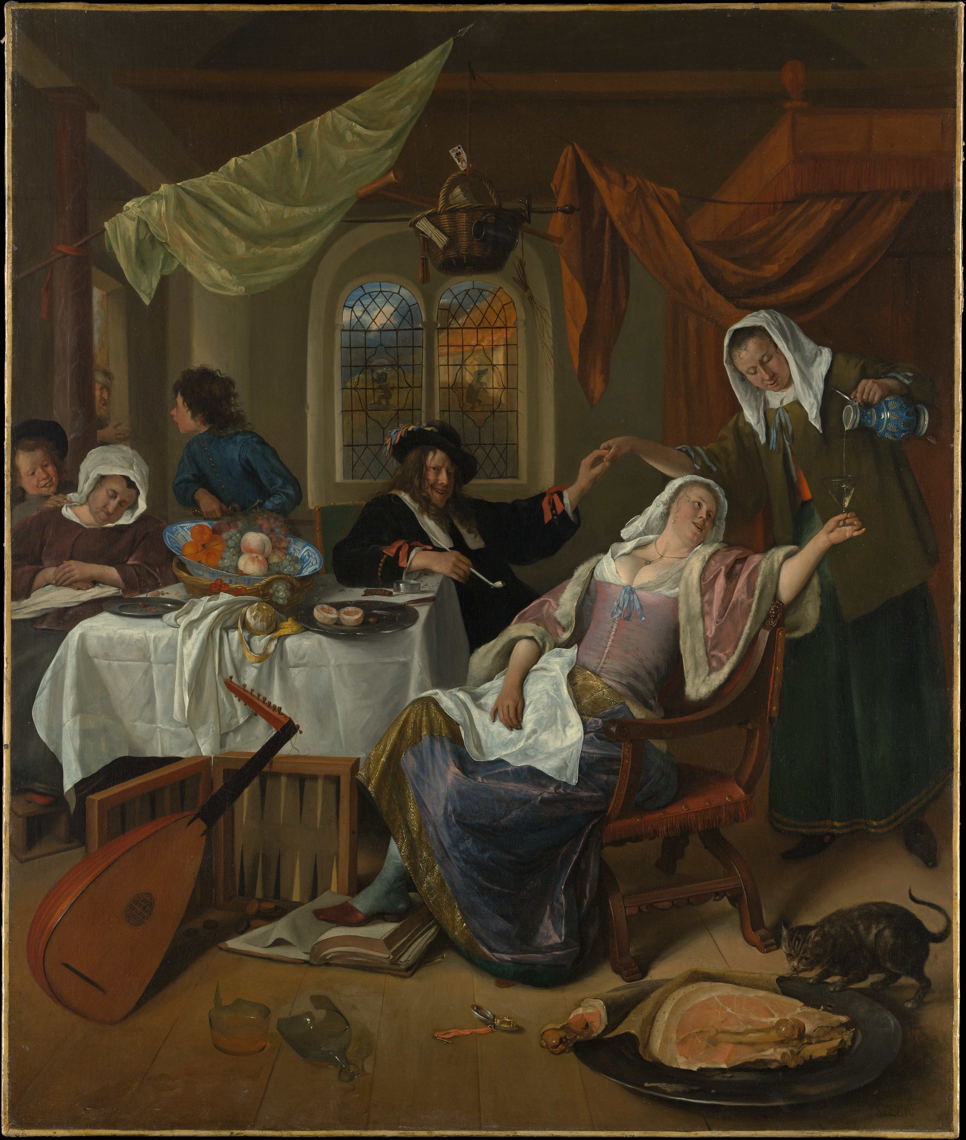 The Dissolute Household 1663-4 by Jan Steen