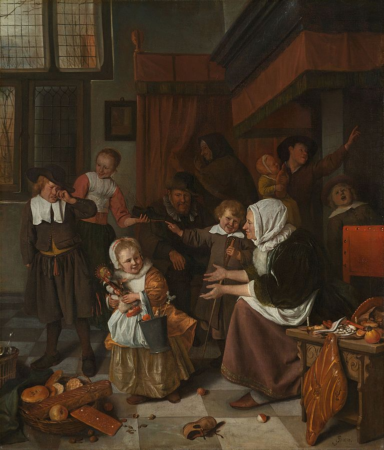The Feast of Saint Nicholas by Jan Steen 1663-65