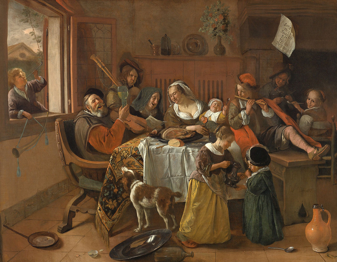 The Merry Family by Jan Steen 1668
