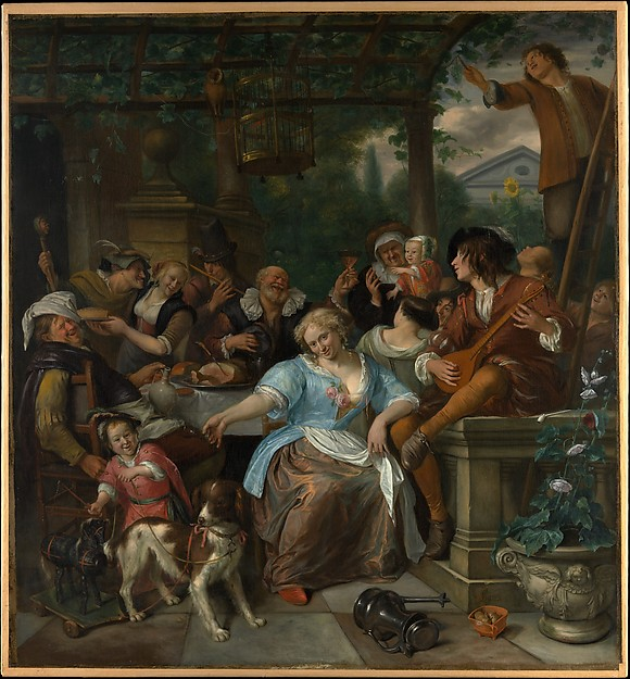 Merry Company on a Terrace by Jan Steen 1670