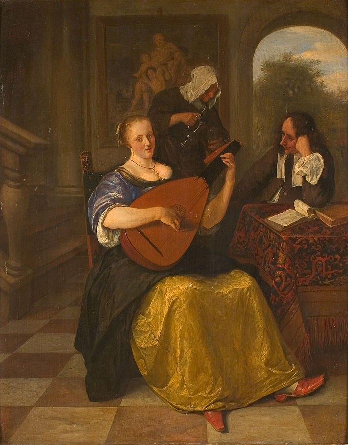 The Lute Player by Jan Steen